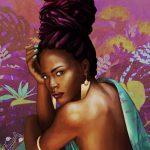 Illustration réaliste femme noir exotique